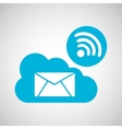 cloud email connection internet concept graphic vector image vector image