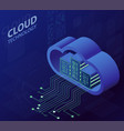 cloud technology isometric concept modern vector image
