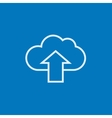 Cloud with arrow up line icon vector image vector image