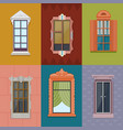 colorful windows flat collection vector image vector image