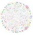 confetti stars cycle stream vector image vector image