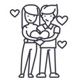 couple in love loving couplehappy valentineman vector image
