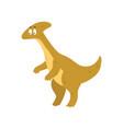 cute cartoon parasaurolophus dinosaur prehistoric vector image vector image