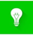 Flat long shadow light bulb icons vector image vector image