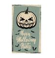 flyer template halloween party evil pumpkin on vector image vector image