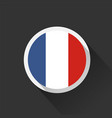 france national flag on dark background vector image vector image