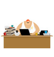freelancer at work clutter and computer remote vector image