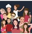 friends picture together set of faces man woman vector image