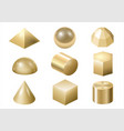gold metal forms 3 vector image