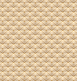 Gold square pattern vector image vector image