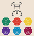 Graduation Icon Set vector image