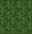 green leaves holly plant background seamless vector image