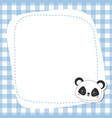 greeting card with panda face greeting card with vector image vector image
