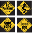 grunge road signs vector image vector image