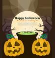 halloween background flat design vector image vector image