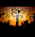 happy halloween banner with cemetery vector image vector image
