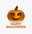 happy halloween pumpkin icon with shadow isolated vector image vector image