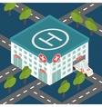 Hospital building medical flat isometric vector image
