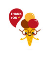 ice cream cone character saying thank you vector image vector image