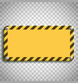 industrial warning sign vector image vector image