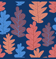 leaves pattern seamless vector image