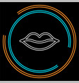 lips - kiss icon red lipstick vector image