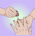 made beauty salon manicure cost savings caring vector image