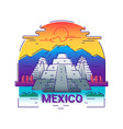mexico - modern line travel vector image vector image