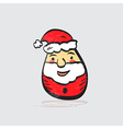Modern flat design with retro cartoon Santa Claus vector image vector image