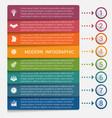 modern strips infographics 8 options banner vector image vector image