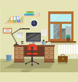 office room vector image
