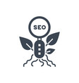 organic seo glyph icon vector image vector image