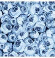 Painted flower seamless pattern with blue roses vector image vector image