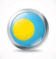 Palau flag button vector image