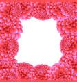 pink dahlia border vector image vector image