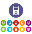 recycling bucket icon simple style vector image vector image