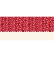 red rotile horizontal seamless pattern vector image