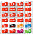 sale tag set transparent background vector image vector image