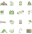Set icons for travel and tourism vector image