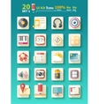 set icons music for app vector image vector image