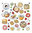 set of morning breakfast elements isolated on vector image vector image