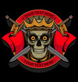 skull king logo vector image vector image
