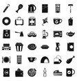 small cafe icons set simple style vector image