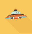 space ufo flat icon vector image