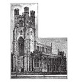 st marys church cambridge historic england vector image vector image