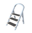 Staircase stepladder on a white background tool