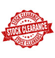 stock clearance stamp sign seal vector image vector image