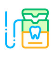 stomatology equipment thin line sign icon vector image