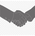 strong handshake of two mens hands vector image vector image