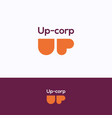up corp logo vector image